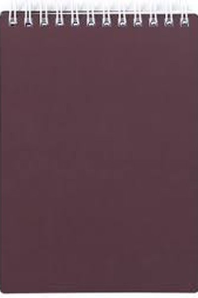 Bloknots # A5/80 ar spir.bordo Metallic